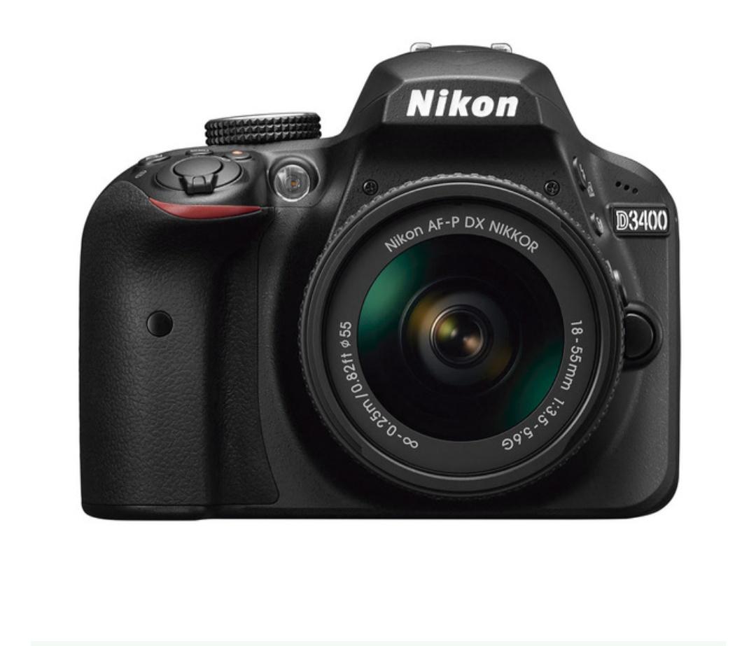 Cámara réflex Nikon D3400 con Objetivo AF-P DX 18-55mm