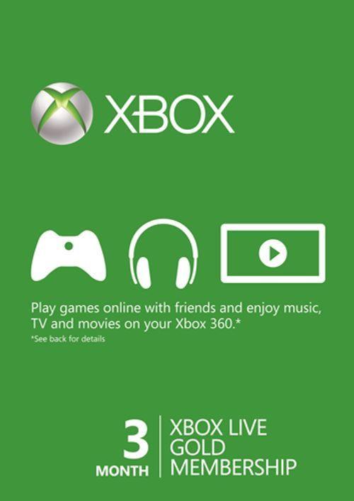 3 Meses Xbox Live (Xbox One/360) por 8,82€