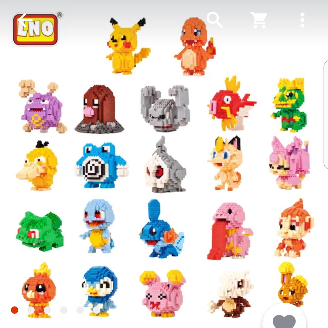 Figuras estilo Lego de Pokémon
