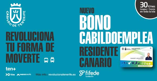 Bono de transporte para desempleados a 30 euros al mes (TENERIFE)