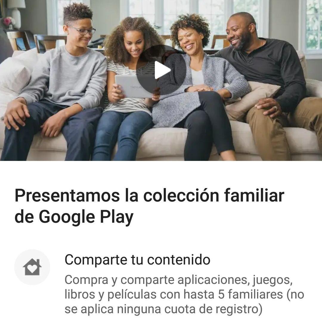 Colección familiar: Cómo ahorrarte hasta un 80% en apps de pago en Google Play
