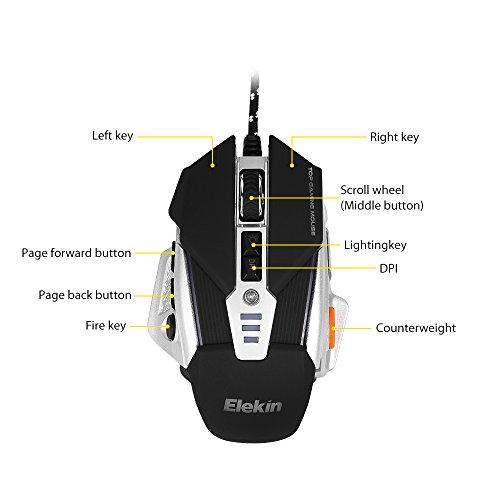 Ratón LED con 8 botones
