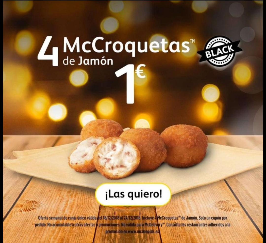 4 McCroquetas por 1€