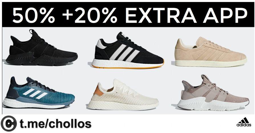 Adidas - 20% descuento adicional en la app