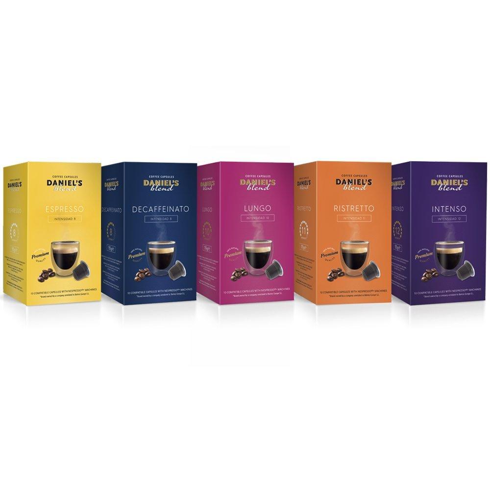 Pack de 100 cápsulas de café Daniel Blend compatibles con Nespresso®