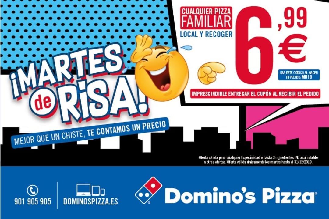 CUALQUIER PIZZA FAMILIAR DOMINÓS