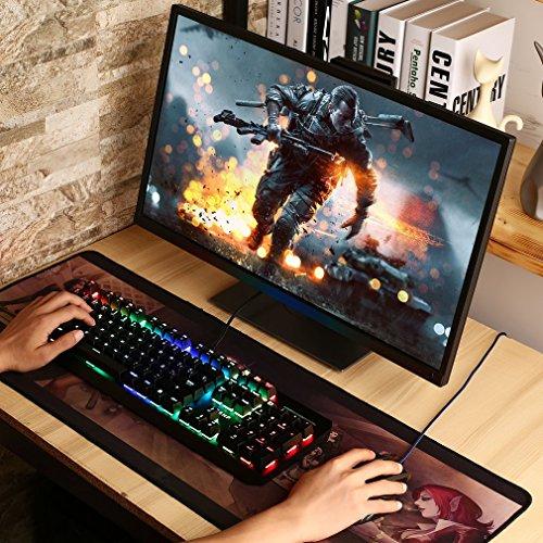 LESHP Teclado Mecánico Gaming con Disposición Española Interfaz USB. (104 Teclas y 13 Diferentes Modos de Retroiluminación)