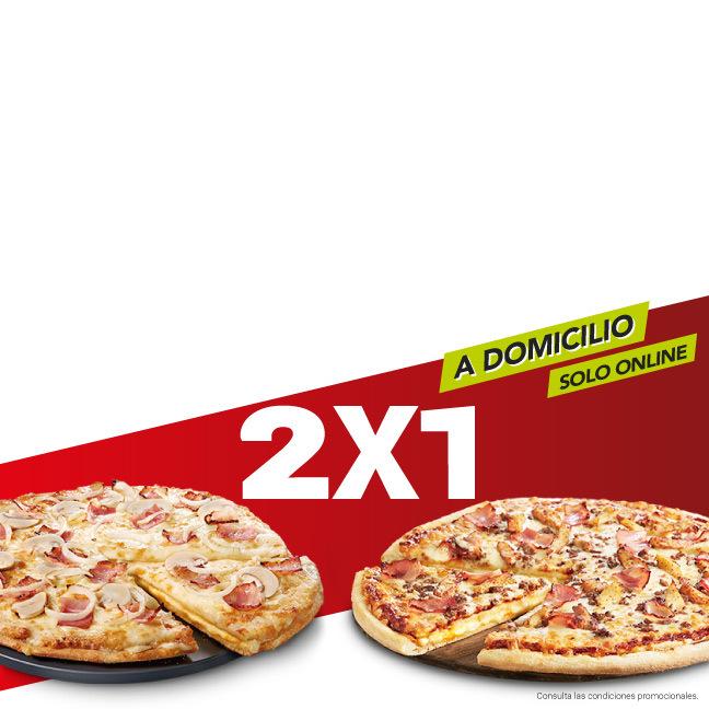 2×1 en tus pizzas medianas y familiares (A domicilio, solo online)