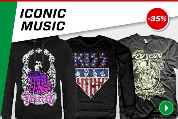 Merchandising iconos de la música Rock