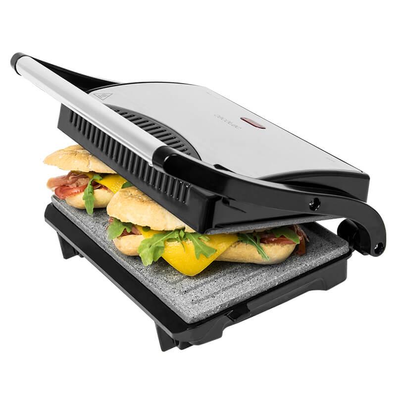 Cecotec Sandwichera con placas de plancha grill