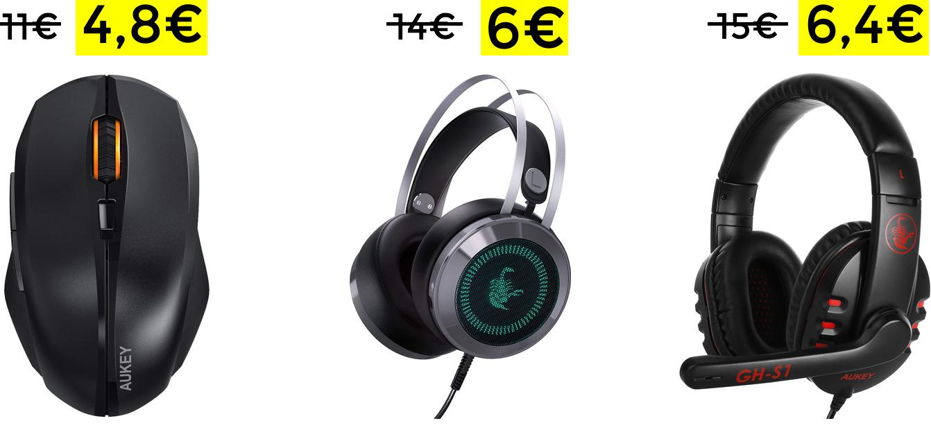 Selección productos Gaming Aukey desde 4.8€