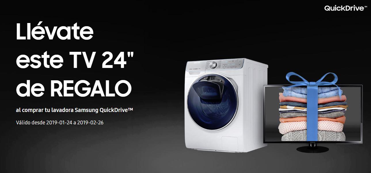 """¡Llévate  un televisor de 24"""" por la compra de una lavadora QuickDrive™!"""