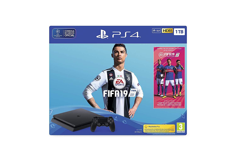 PlayStation 4 (PS4) - Consola 1 TB + FIFA 19  Reacondicionado Amazon