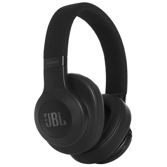 JBL E55BT - Auriculares bluetooth supraaurales plegables con cable y control remoto universal, batería de hasta 20h, negro