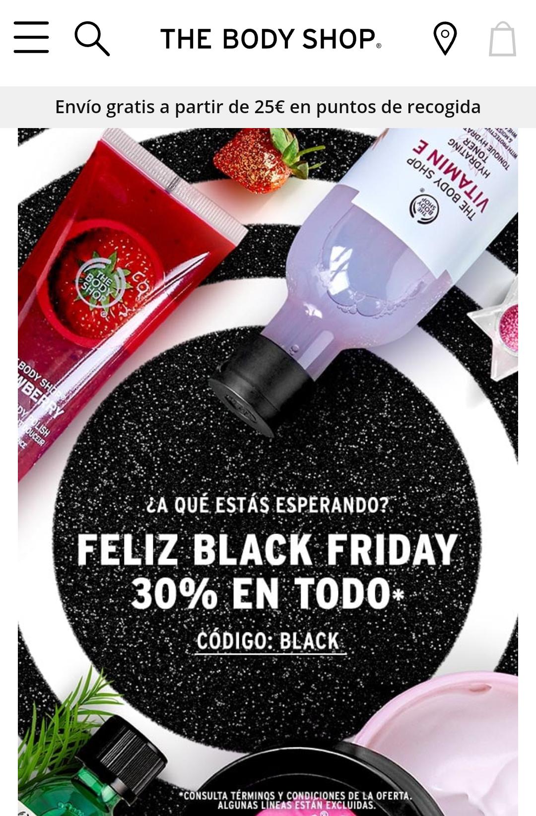 The Body Shop TODO al 30% descuento