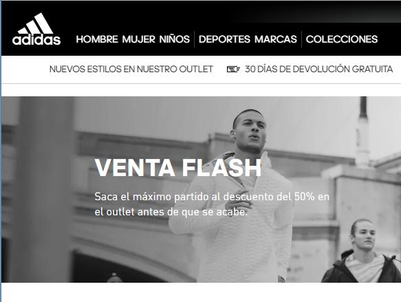 Venta flash en la web de Adidas 50%
