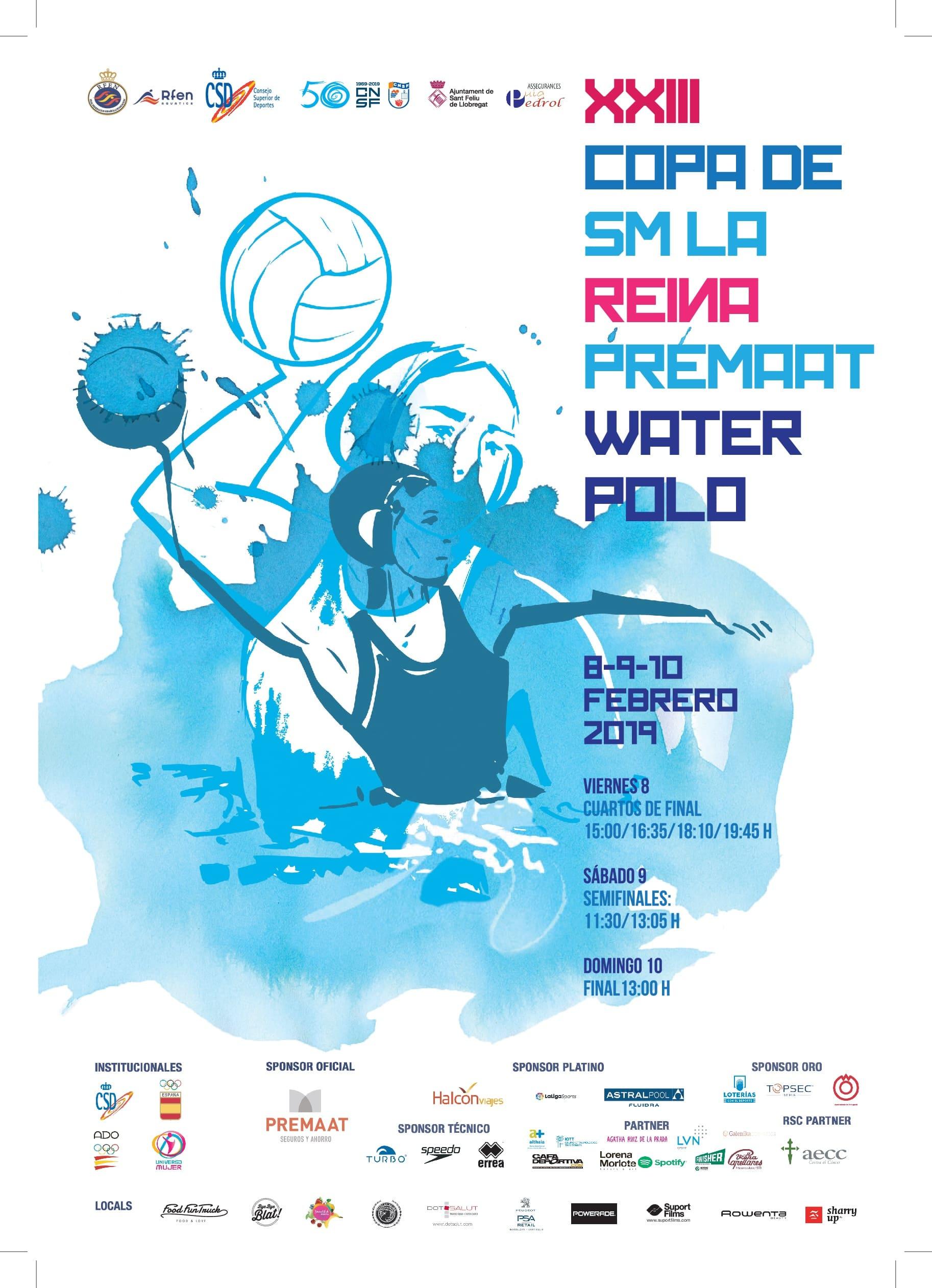 Waterpolo Copa de la Reina entrada gratuita en Barcelona