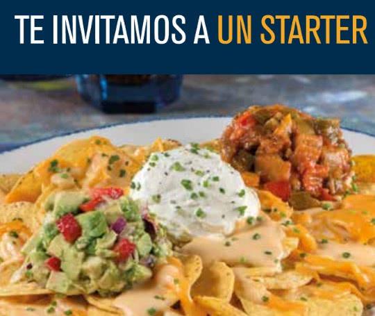 ¡Comida gratis en restaurantes Blue Frog! ¡Un starter o Kid Menu!