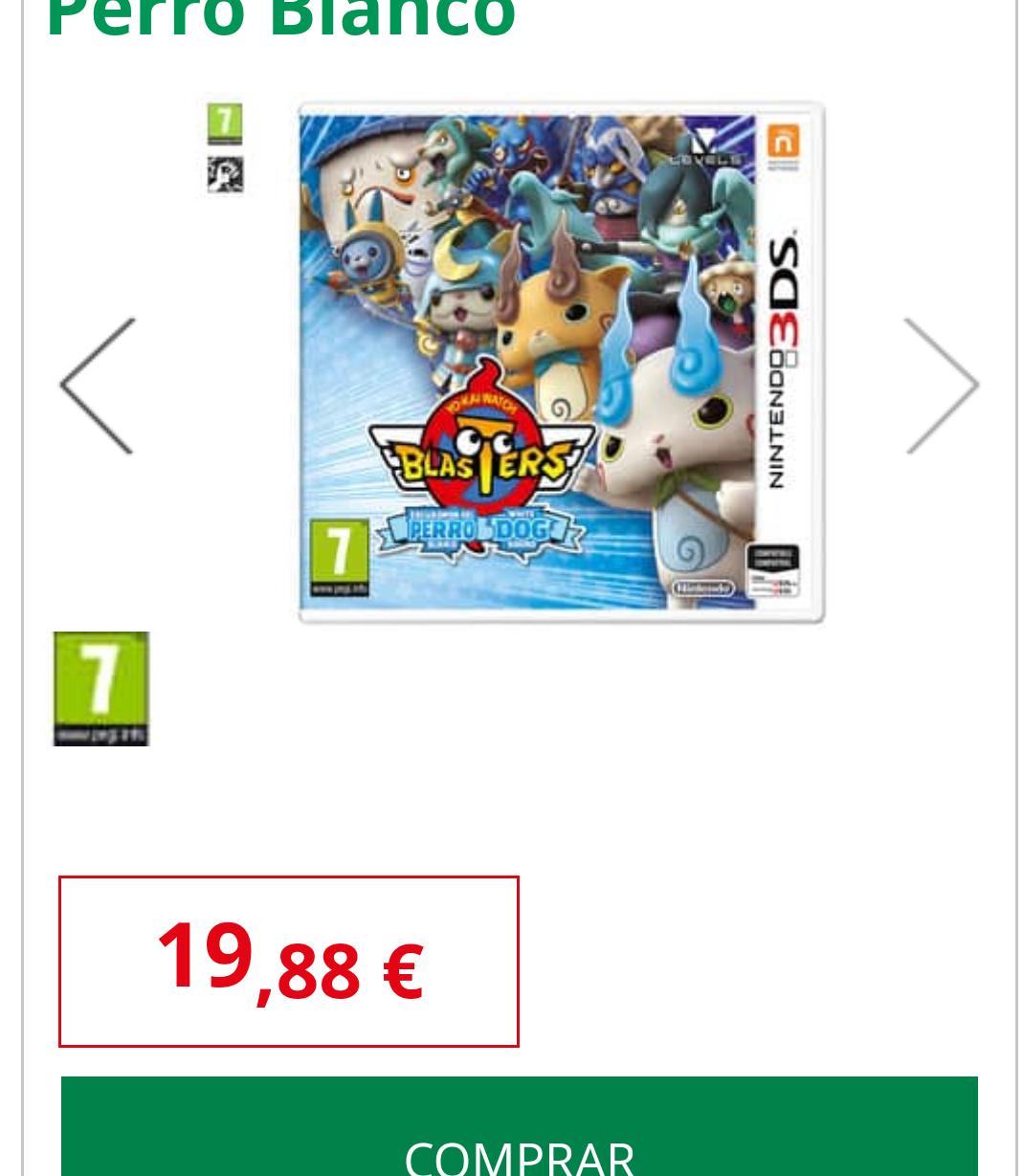 Juego Yo-Kai Watch Blasters: Escuadrón del Perro Blanco para Nintendo 3Ds