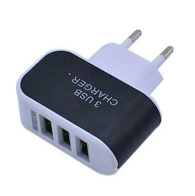 3,1A Triple Puerto USB Pared Viaje Hogar AC Adaptador De Cargador EU/EEUU