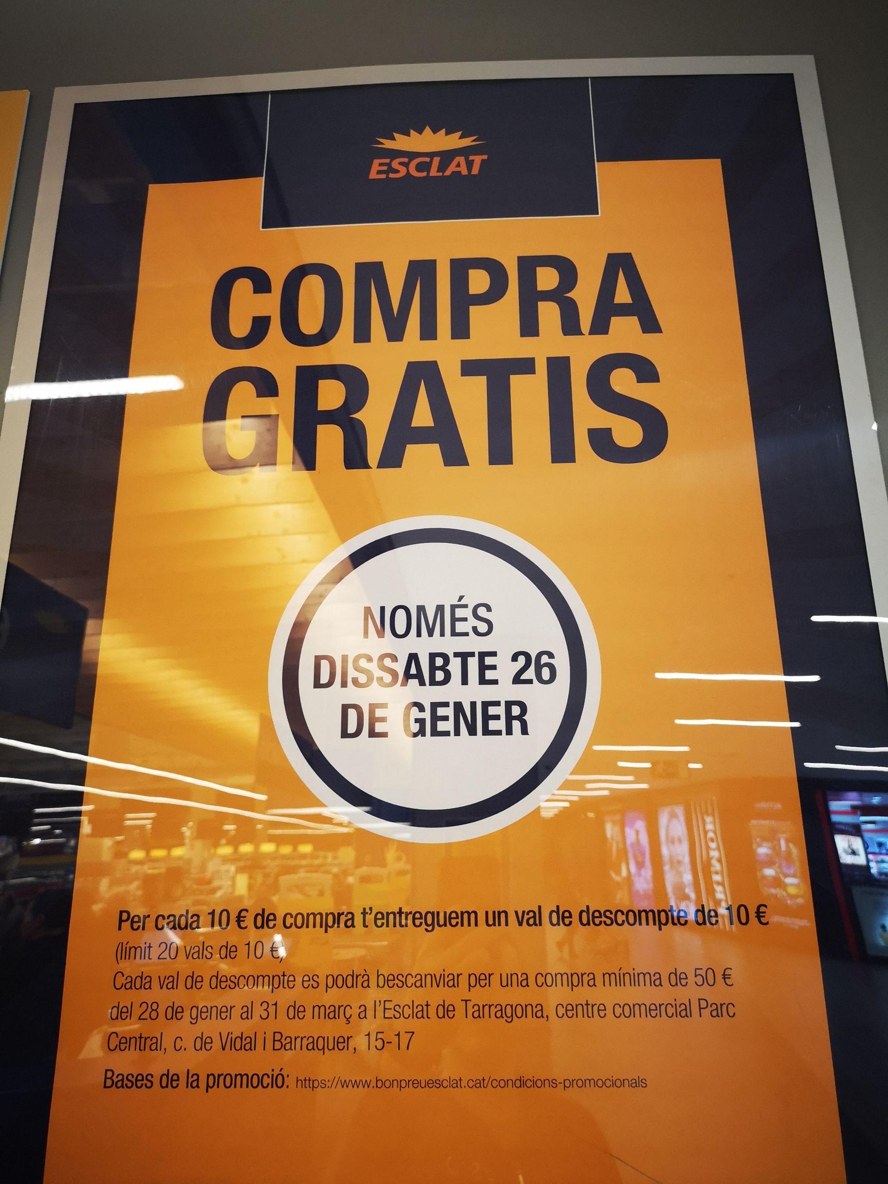 Vale de 10€ al comprar algo en Bonpreu