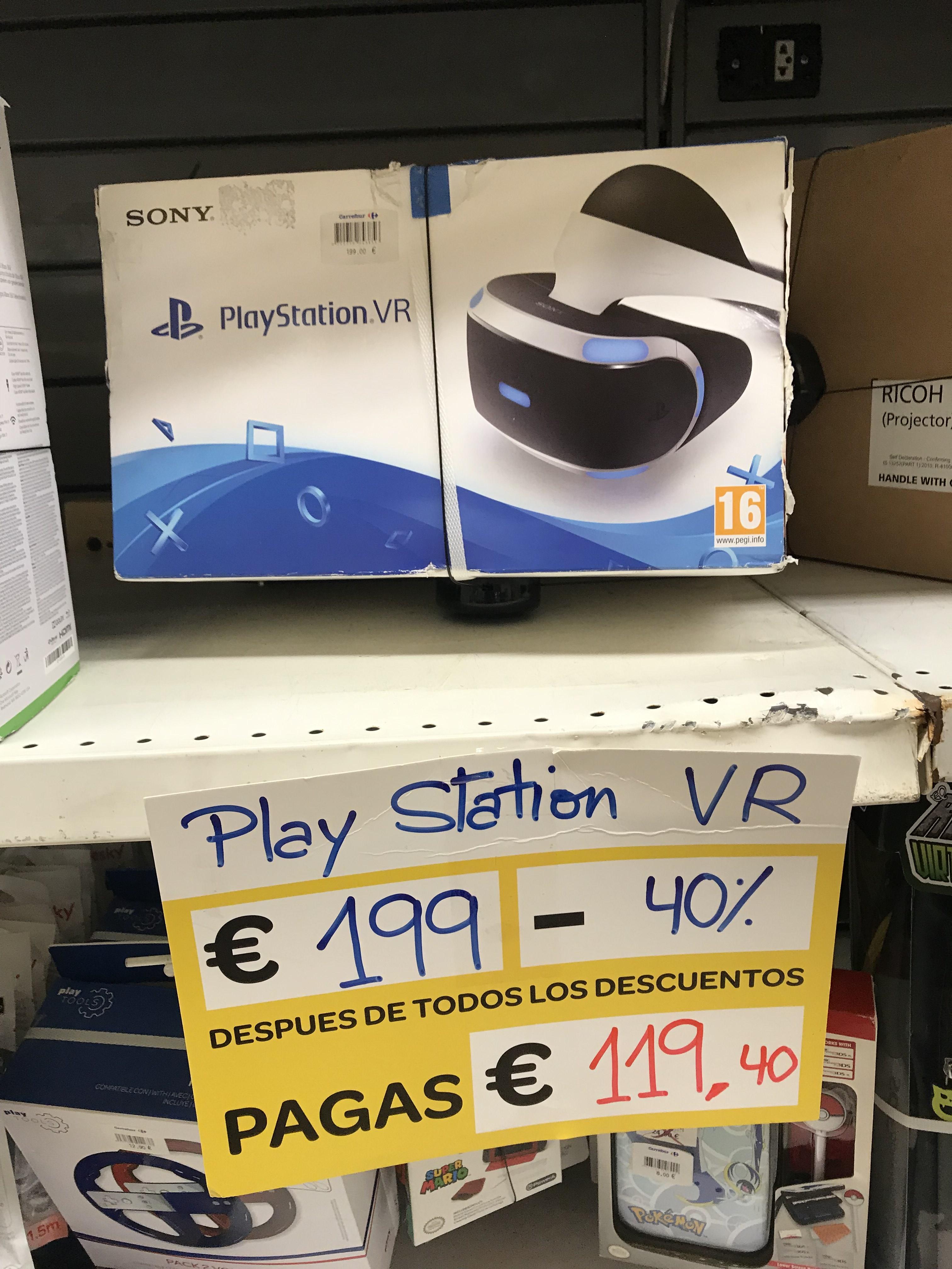 ¡Play Station VR v1 por 119,40€! Carrefour