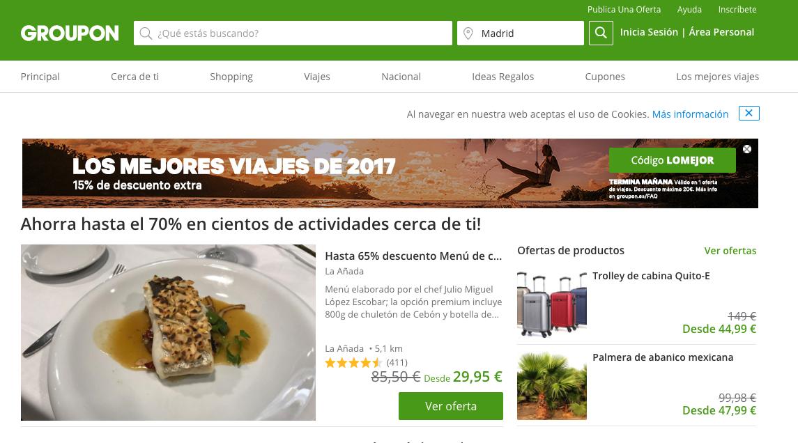 10% en Groupon España para todos los usuarios