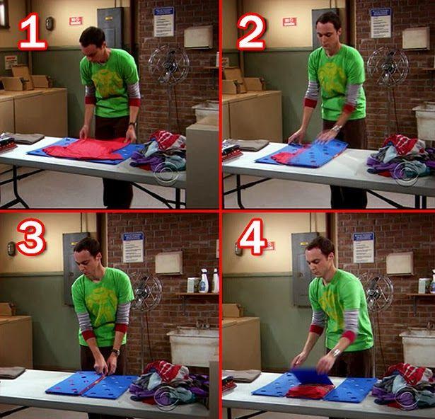 Doblador de ropa - Sheldon Cooper style