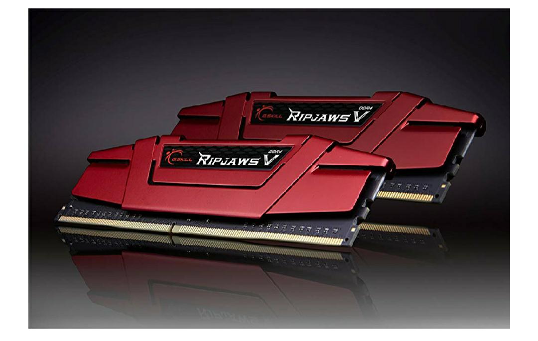 Memoria RAM G.Skill Ripjaws V 8 GB (4GBx2), DDR4, 2400 MHz, Intel XMP 2.0