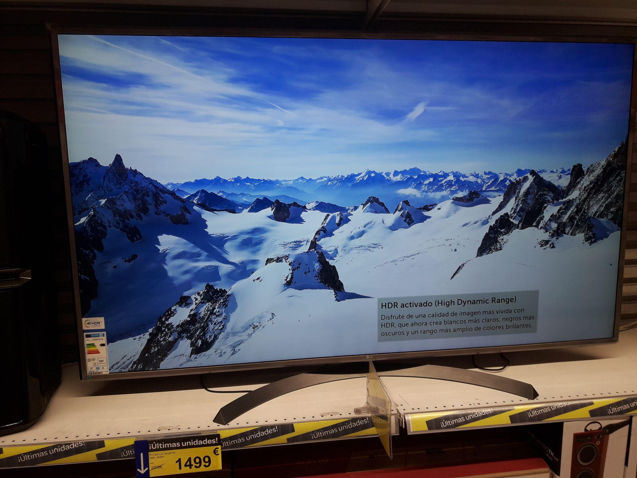 Television 4k 75 pulgadas. Ultima unidad en carrefour hortaleza