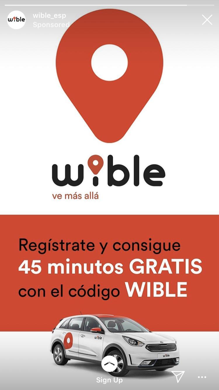 45 minutos gratis en Wible (nuevos registros)