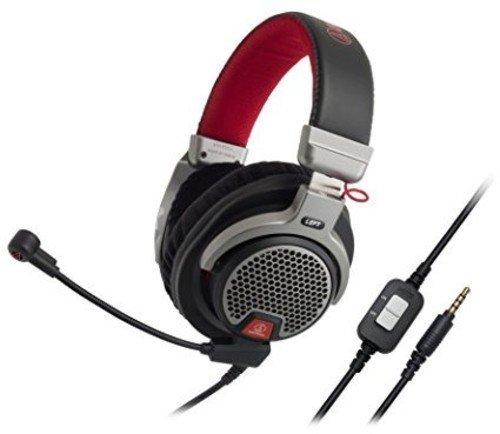 Audio-Technica ATH-PDG1 - Auriculares abiertos de alta fidelidad para videojuegos con micrófono,