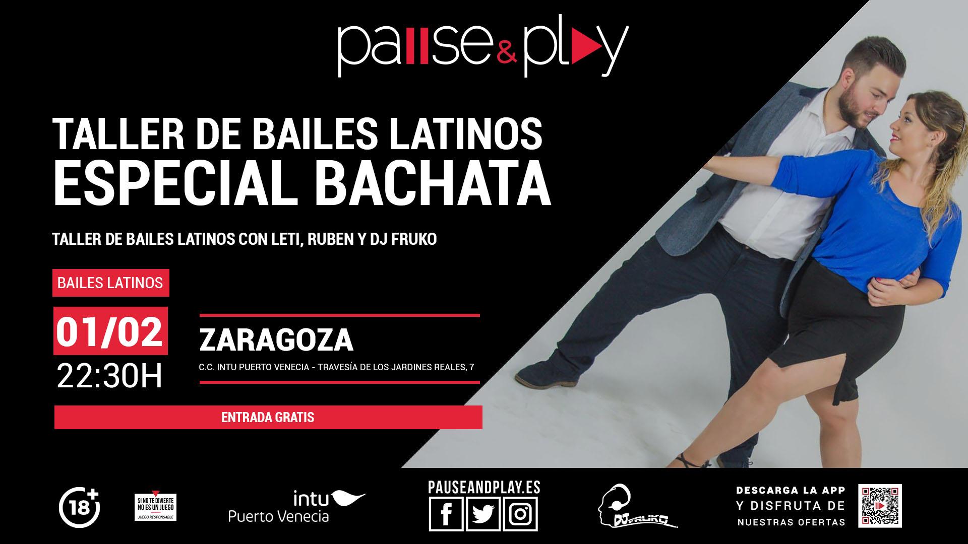 TALLER DE BAILES LATINOS ESPECIAL BACHATA