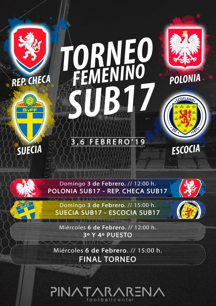 Torneo fútbol femenino Sub17 Pinatar Arena Murcia