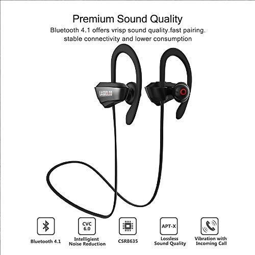 Auriculares Bluetooth impermeables IP65 con micrófono