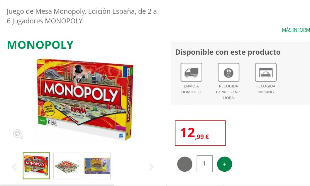 Monopoly España - Juego de mesa - MÍNIMO