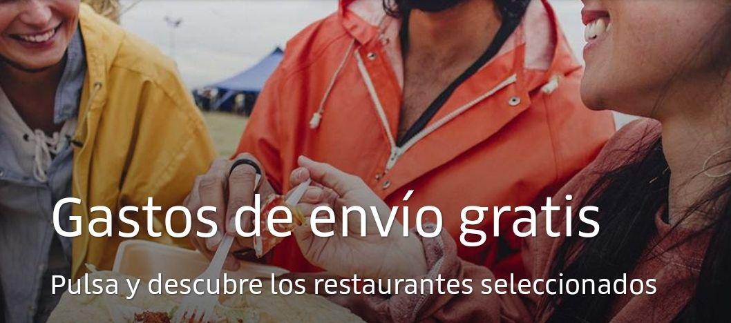 Envío GRATIS en UberEats en restaurantes seleccionados