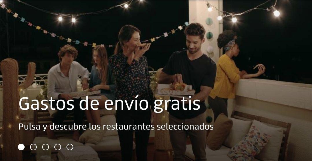 Gastos de envío gratis Uber Eats noche