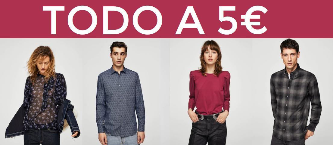 Camisas y blusas para hombre y mujer solo 5€