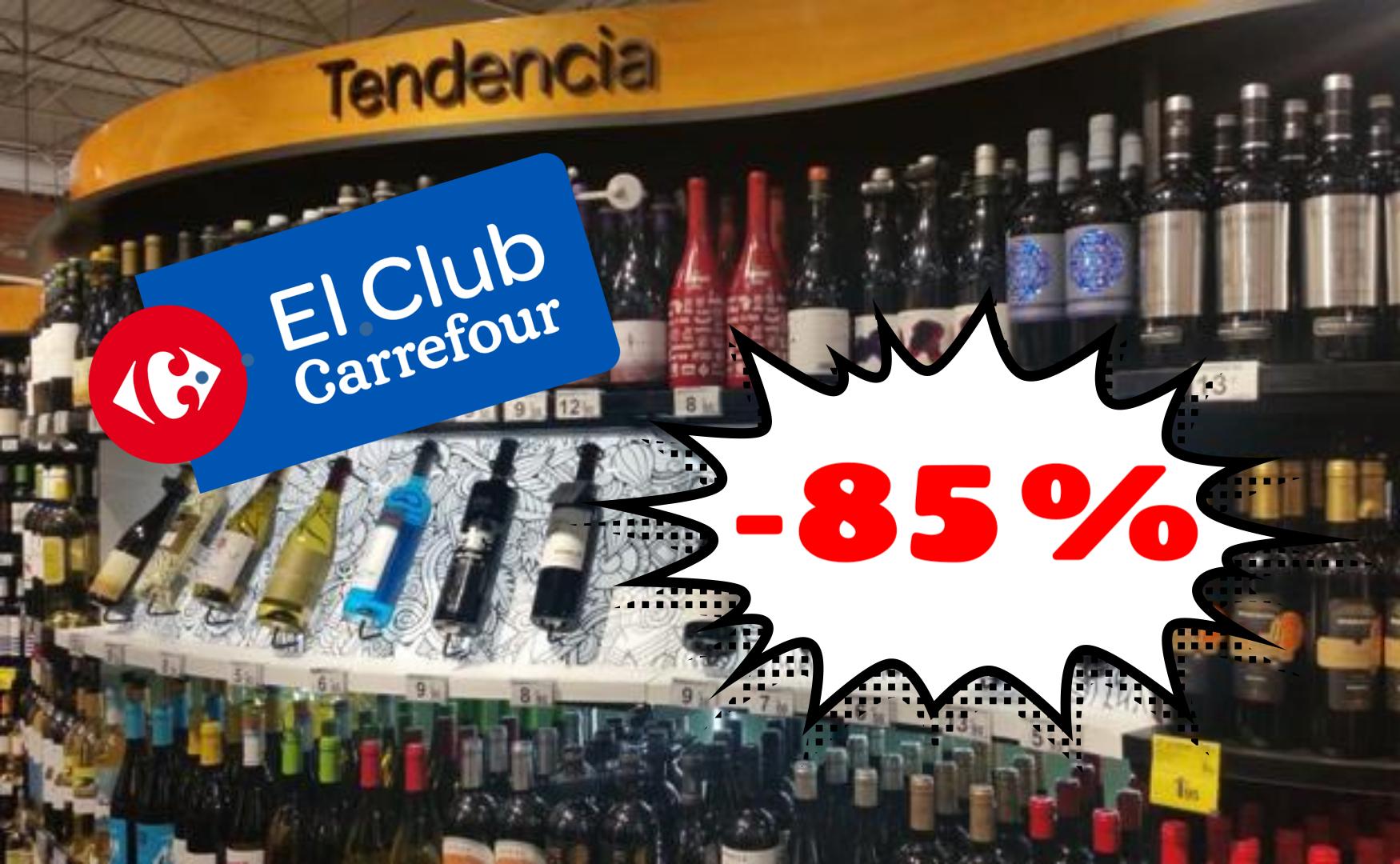 Vinos al -85% en Carrefour online (acum. Chequeahorro)