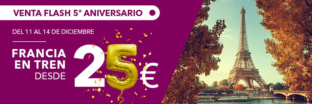 A FRANCIA EN TREN DESDE 25€