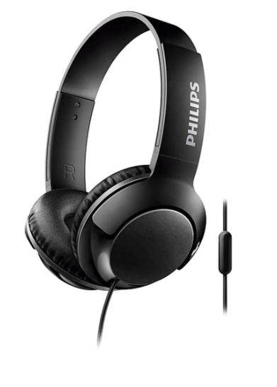 PHILIPS Auriculares de diadema Philips SHL3075BK/00 con micrófono
