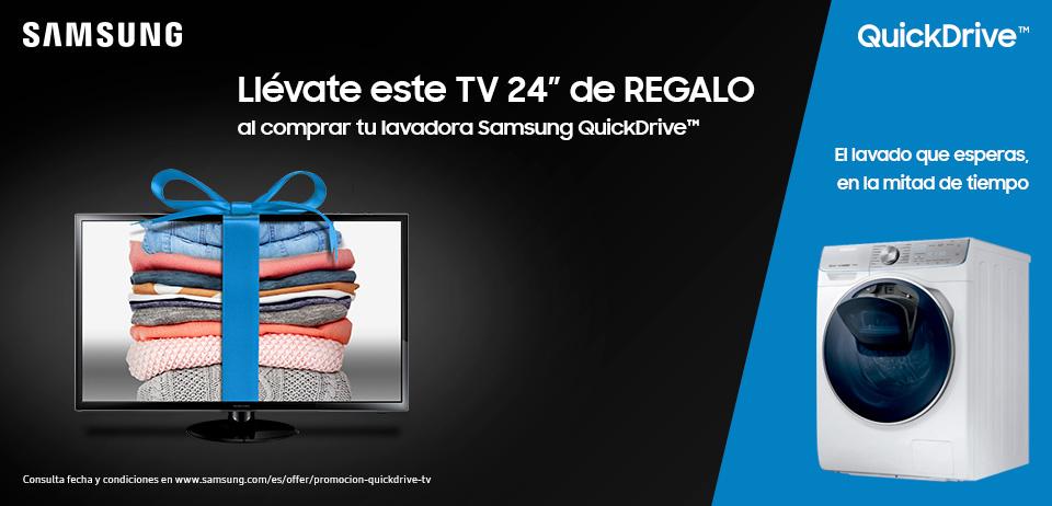 TV 24′ SAMSUNG DE REGALO POR LA COMPRA DE UNA LAVADORA