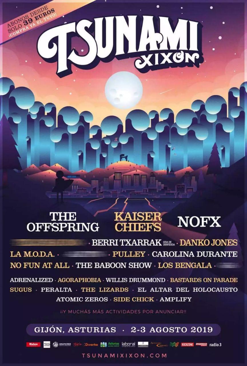 III Festival Tsunami Xixón - Primeros abonos a 39€ a partir del día 7 de febrero