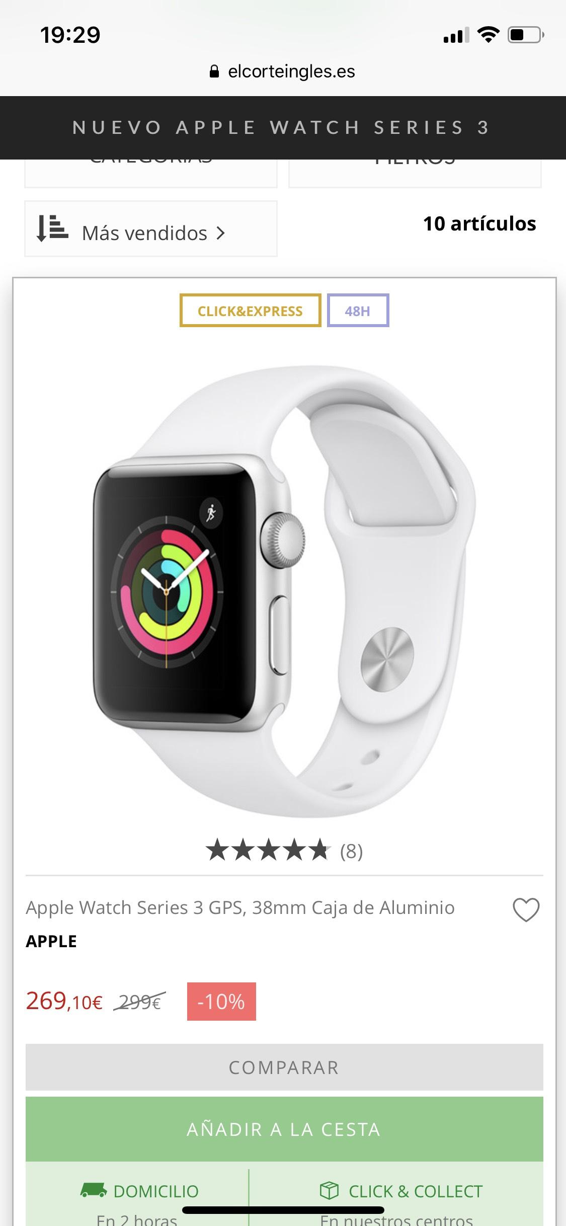 Apple Watch Serie 3 38 GPS