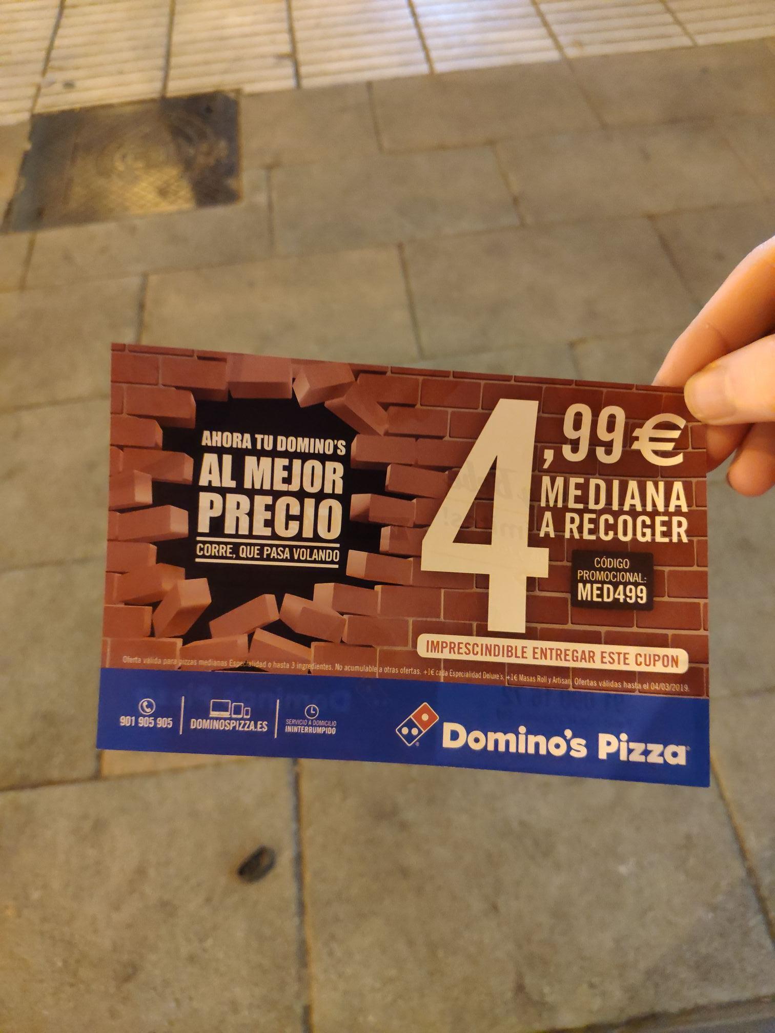 Medianas desde 4.99 en  Domino's Pizza