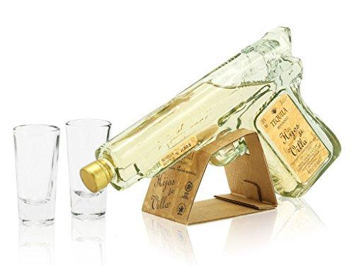 Hijos de Villa Tequila Reposado Pistolen-Flasche + 2 Vasos