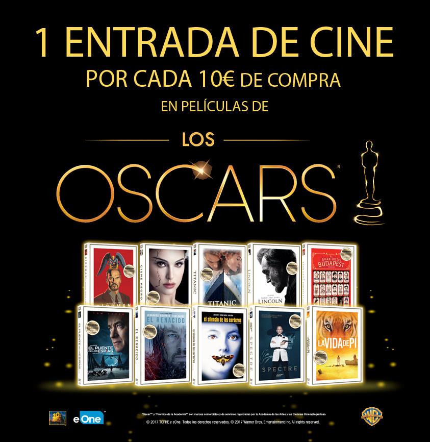 ¡1 entrada de cine gratis por cada 10€ de compra en películas de los Oscars! El Corte Inglés