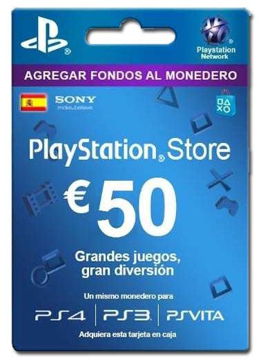 Saldo PS store 50 € mínimo histórico