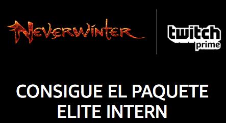 Neverwinter: Elite Intern Bundle con Twitch Prime